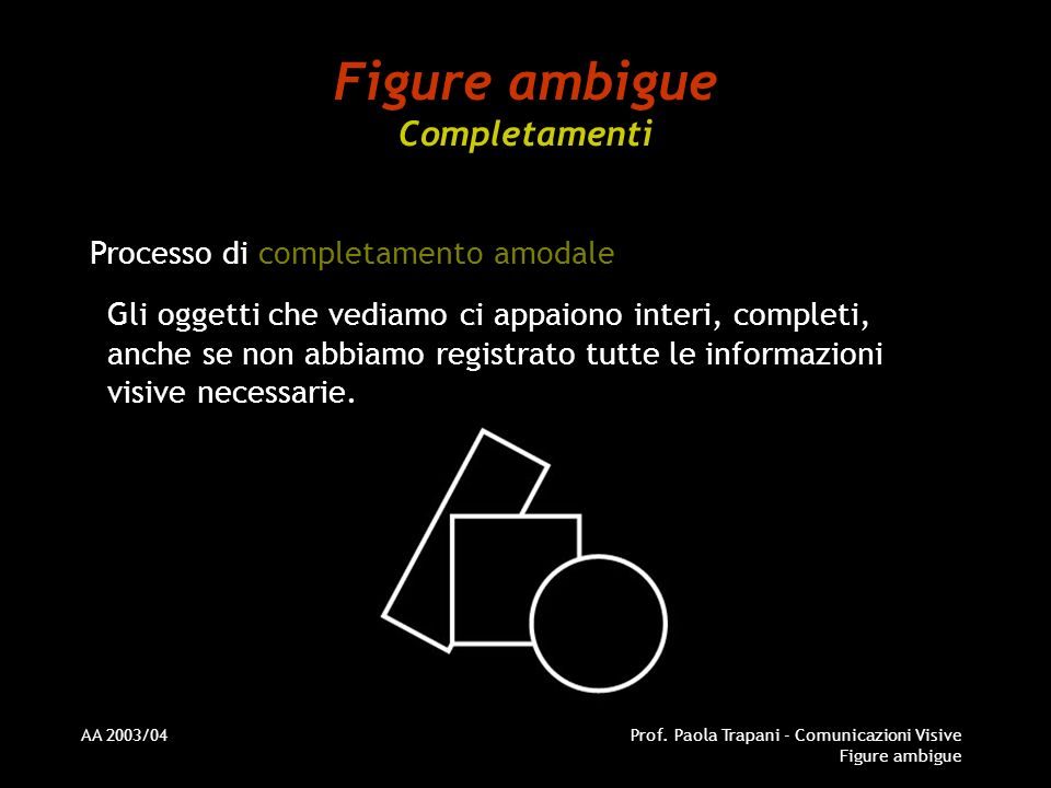 Figure ambigue Completamenti