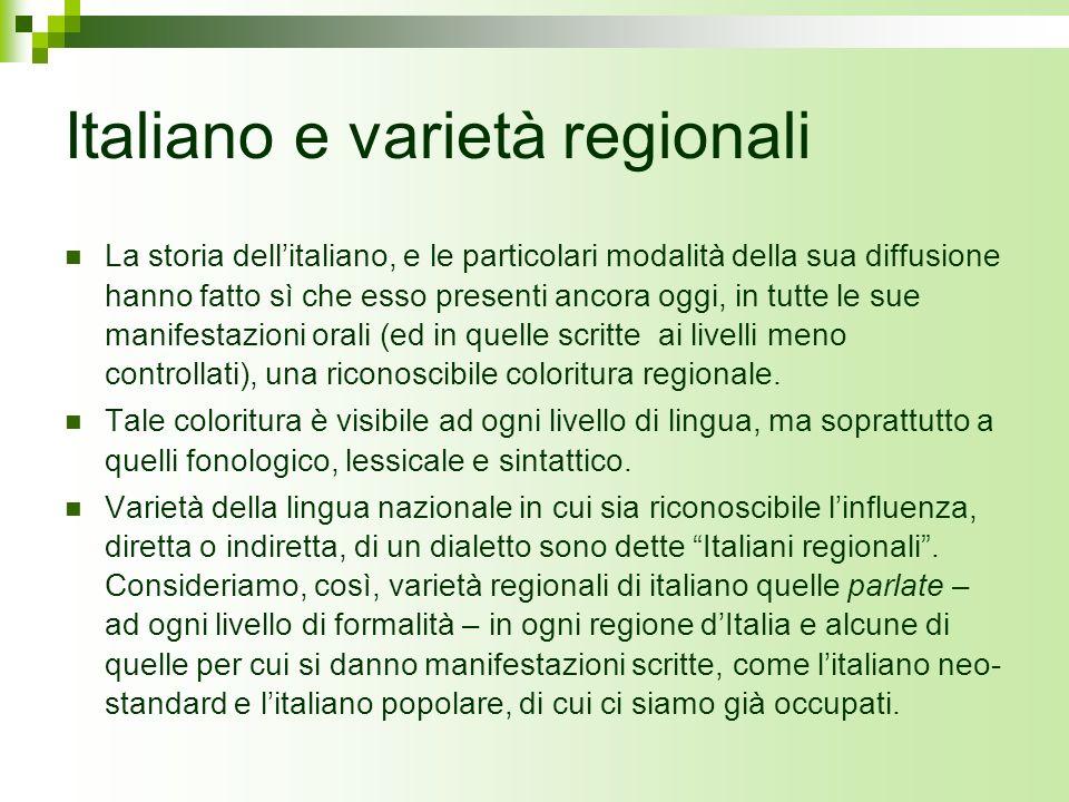 Italiano e varietà regionali