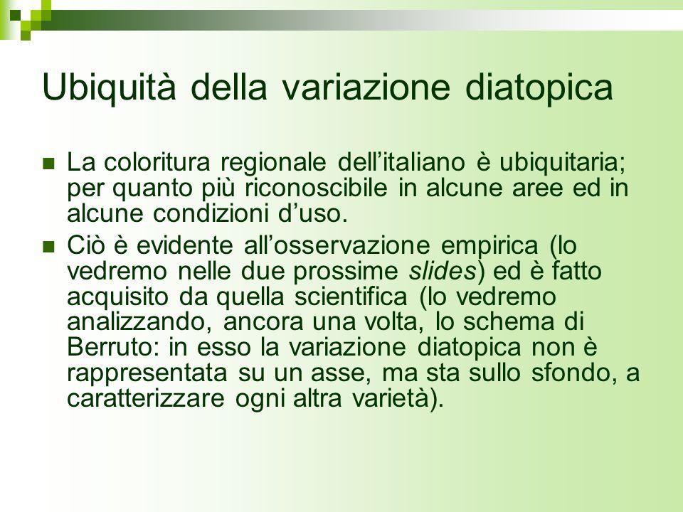 Ubiquità della variazione diatopica