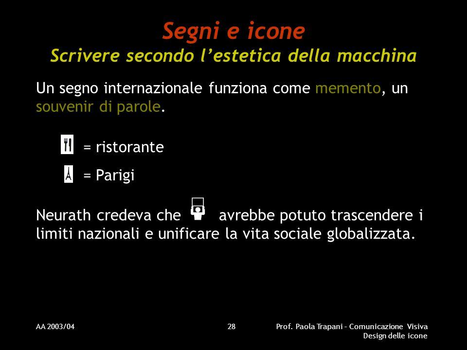 Segni e icone Scrivere secondo l'estetica della macchina
