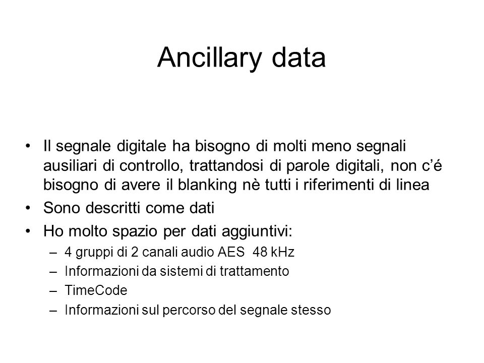 Ancillary data