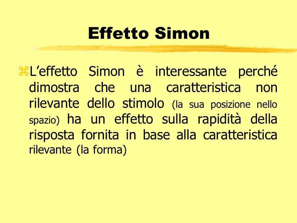 Effetto Simon