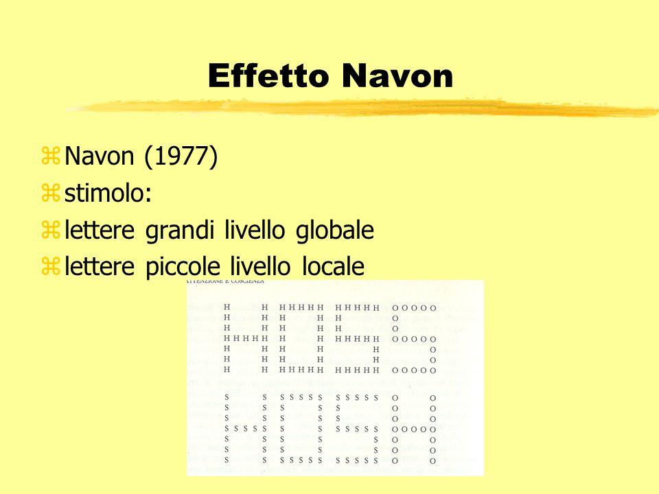 Effetto Navon Navon (1977) stimolo: lettere grandi livello globale