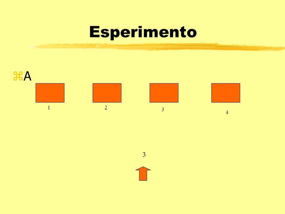 Esperimento A 1 2 3 4 3