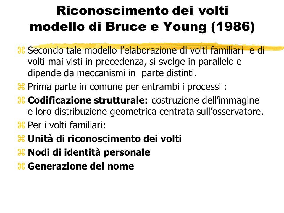 Riconoscimento dei volti modello di Bruce e Young (1986)