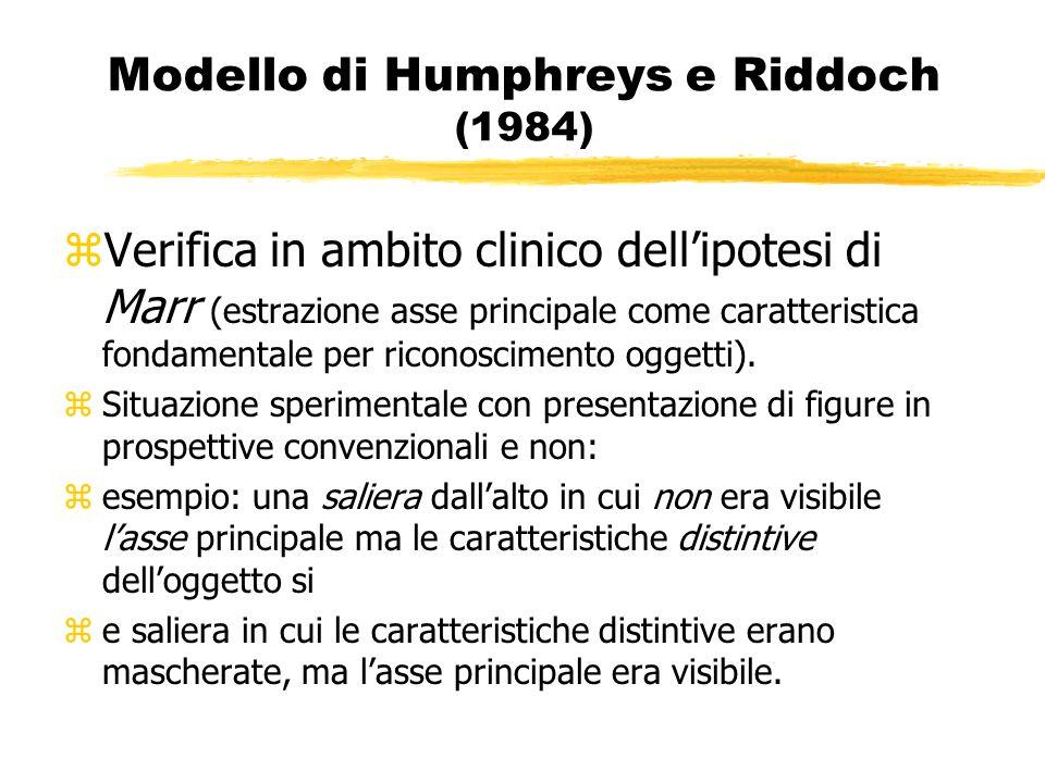 Modello di Humphreys e Riddoch (1984)