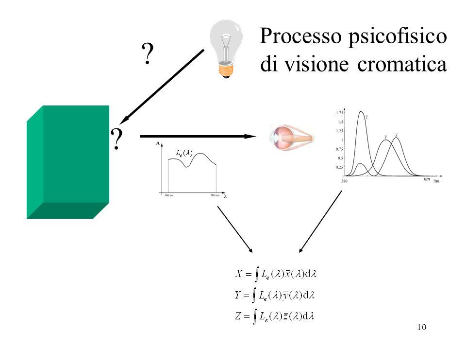 Processo psicofisico di visione cromatica