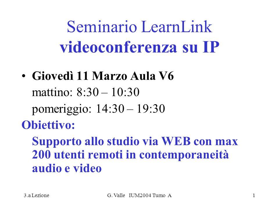 Seminario LearnLink videoconferenza su IP