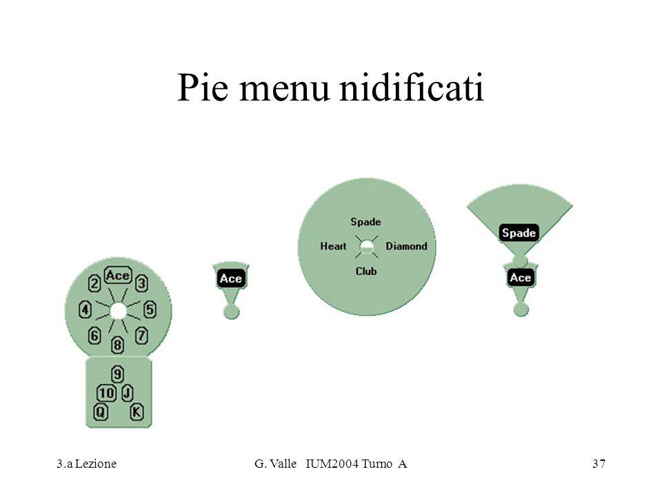 Pie menu nidificati 3.a Lezione G. Valle IUM2004 Turno A