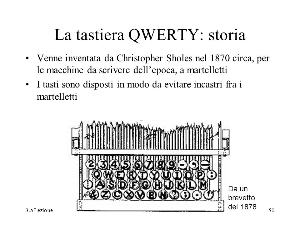 La tastiera QWERTY: storia