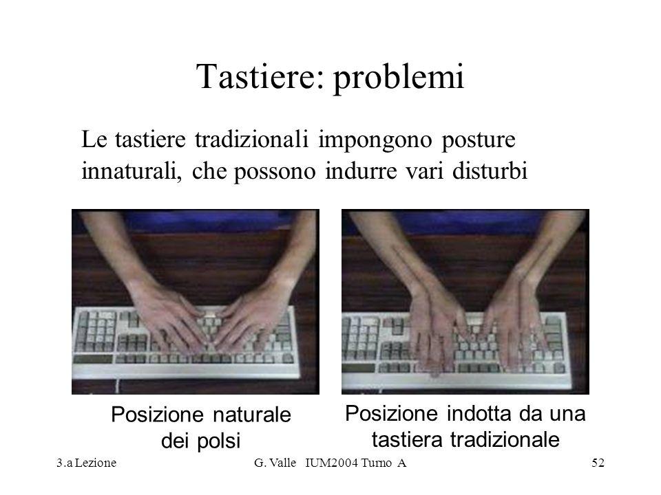 Tastiere: problemi Le tastiere tradizionali impongono posture innaturali, che possono indurre vari disturbi.