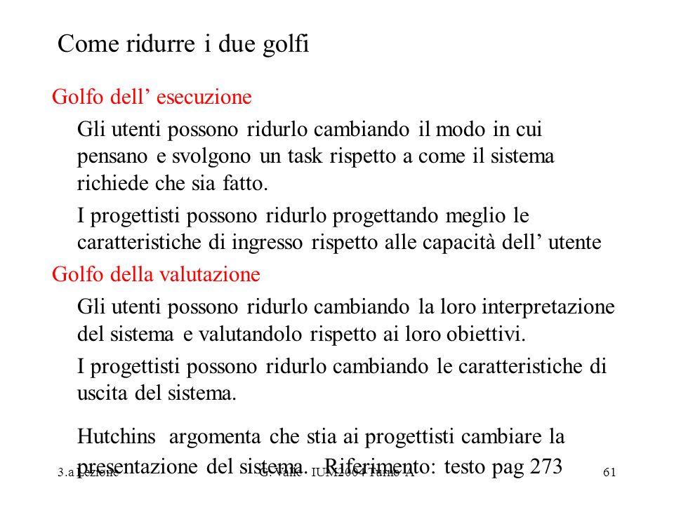 Come ridurre i due golfi