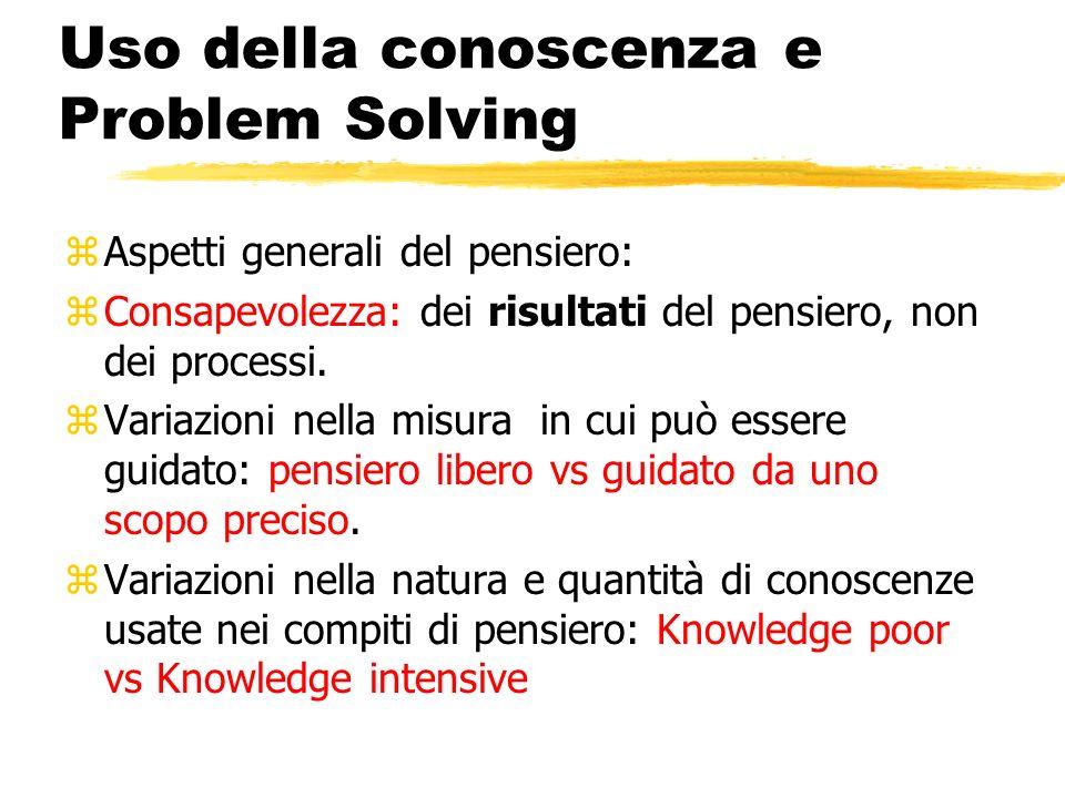 Uso della conoscenza e Problem Solving