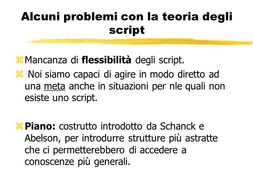 Alcuni problemi con la teoria degli script