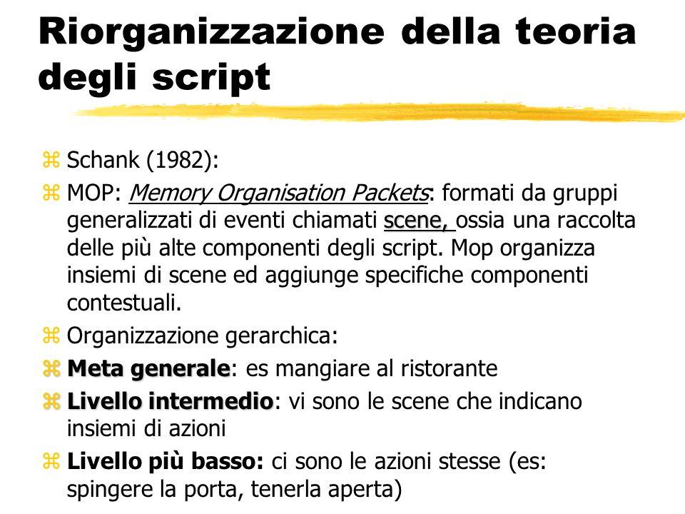 Riorganizzazione della teoria degli script