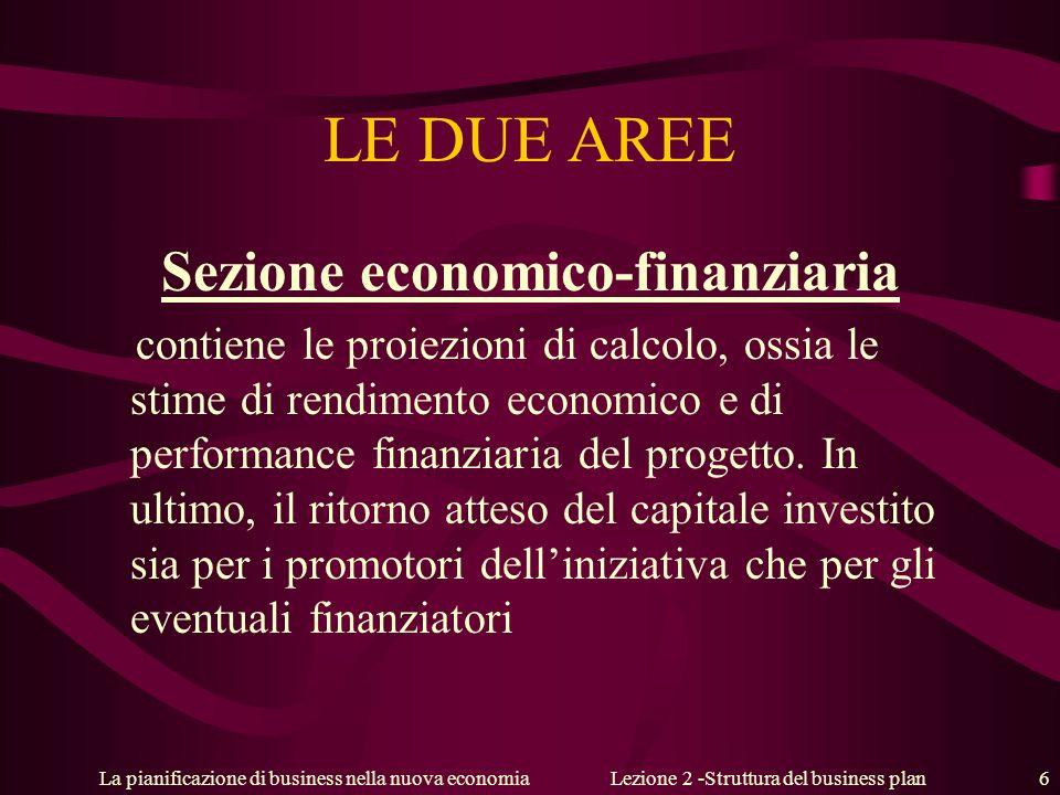 Sezione economico-finanziaria