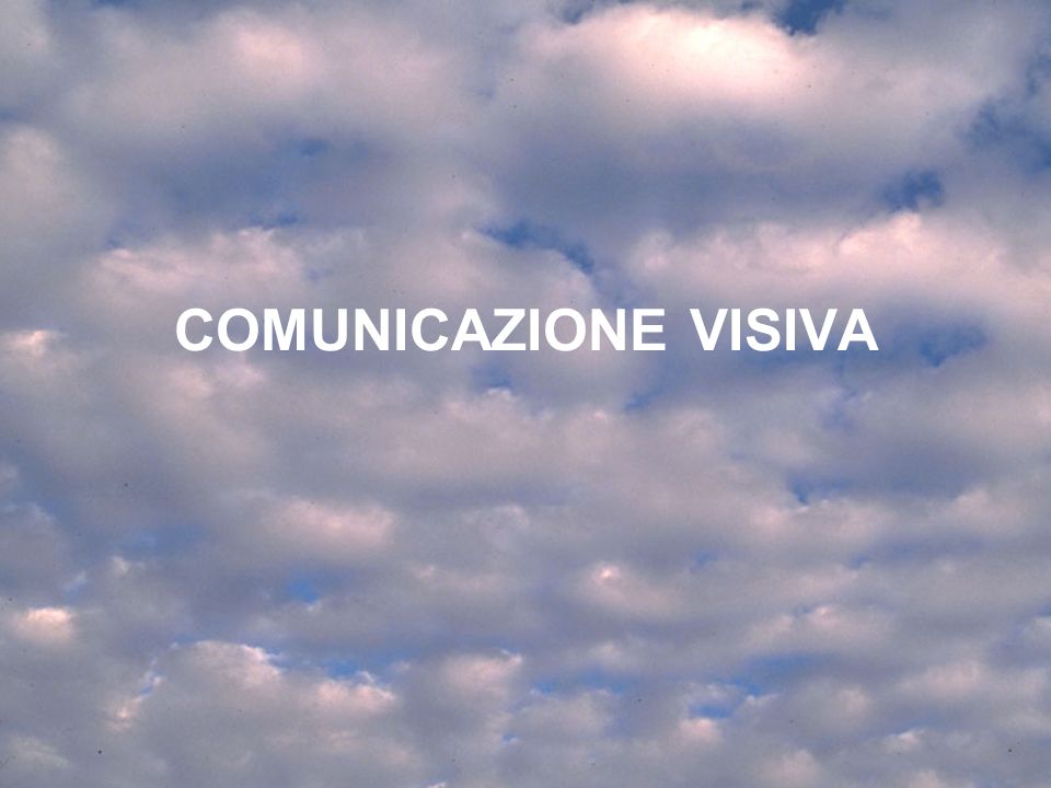 COMUNICAZIONE VISIVA