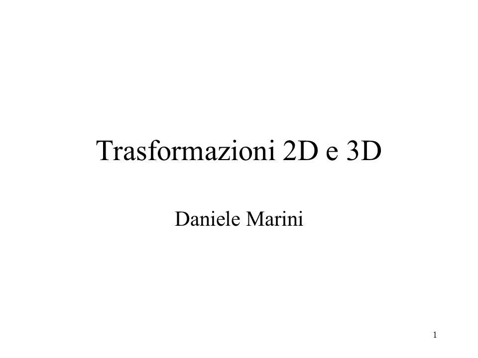 Trasformazioni 2D e 3D Daniele Marini