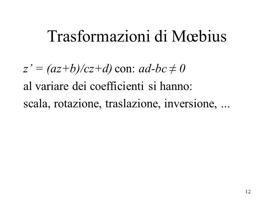 Trasformazioni di Mœbius