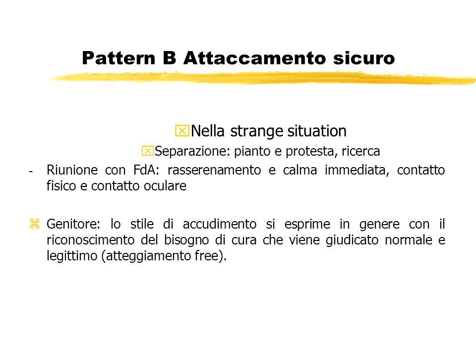 Pattern B Attaccamento sicuro