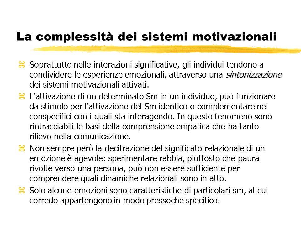 La complessità dei sistemi motivazionali