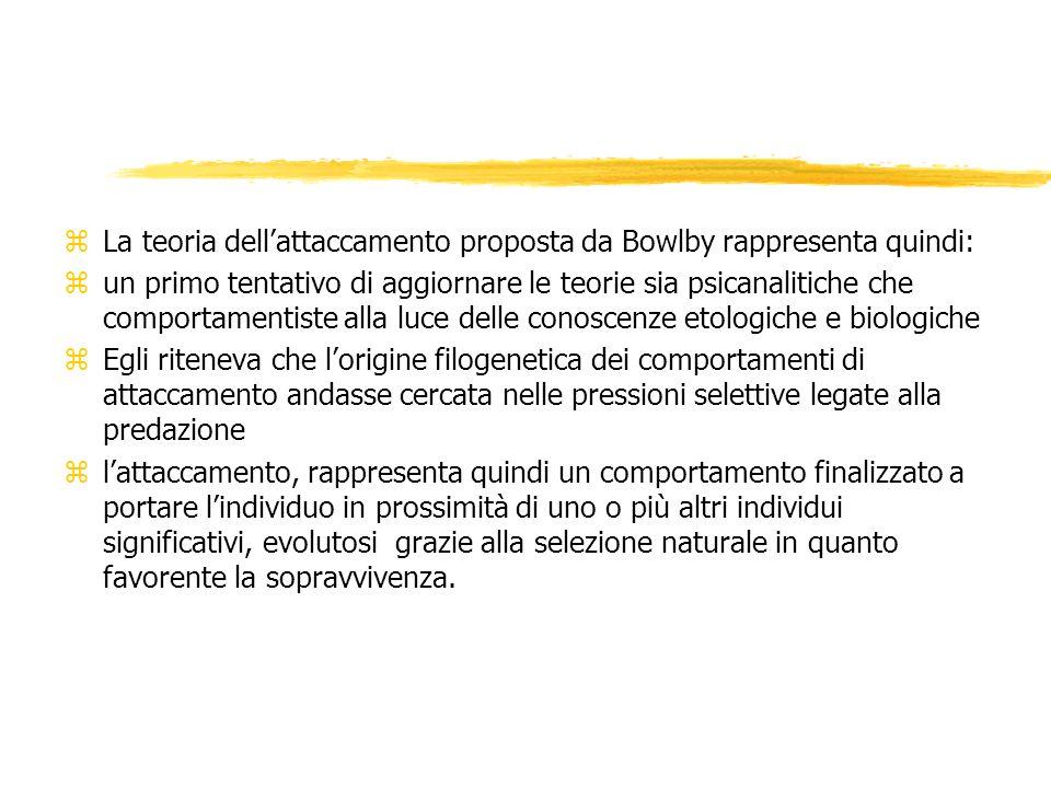 La teoria dell'attaccamento proposta da Bowlby rappresenta quindi: