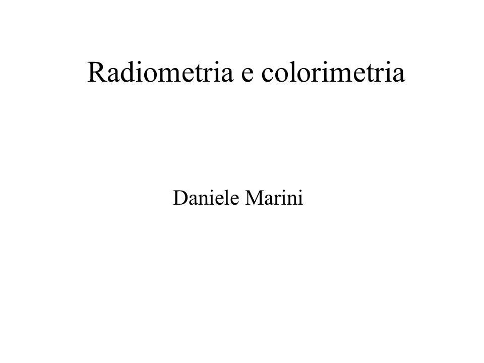 Radiometria e colorimetria