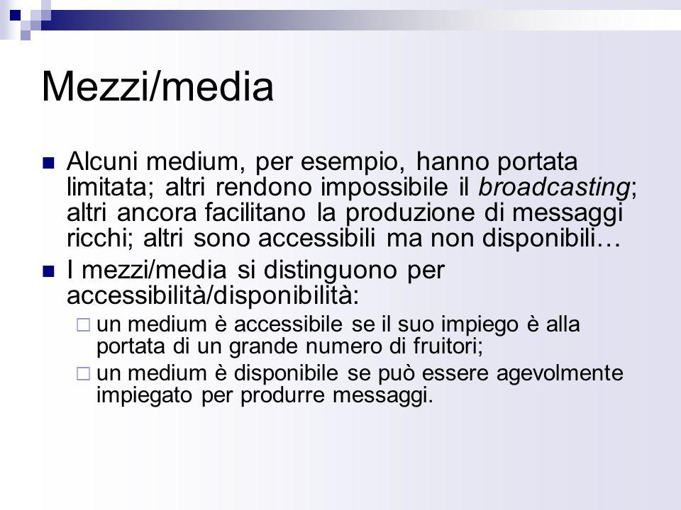 Mezzi/media