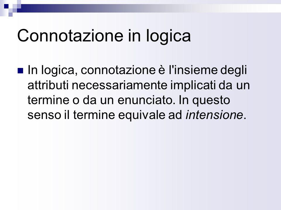 Connotazione in logica