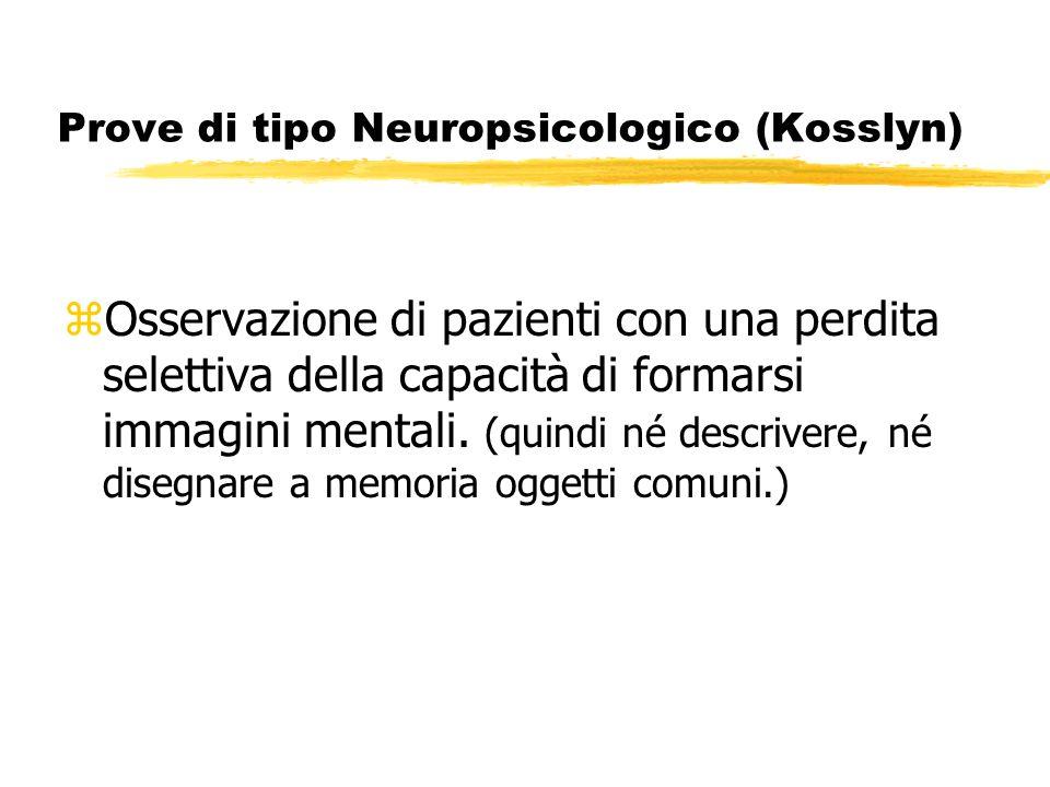 Prove di tipo Neuropsicologico (Kosslyn)
