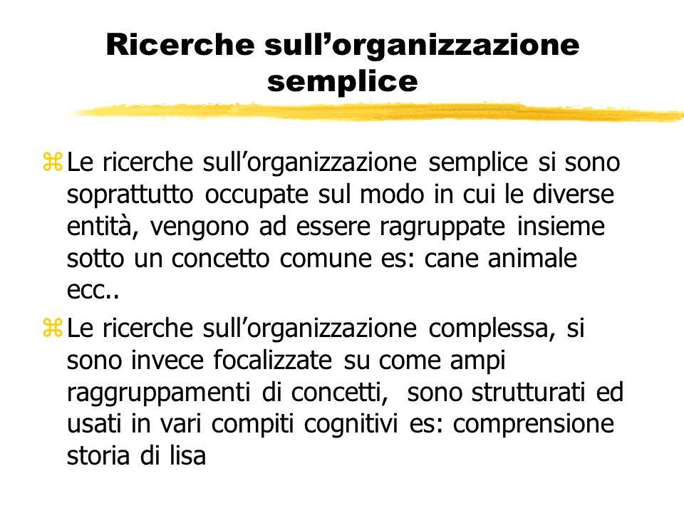 Ricerche sull'organizzazione semplice