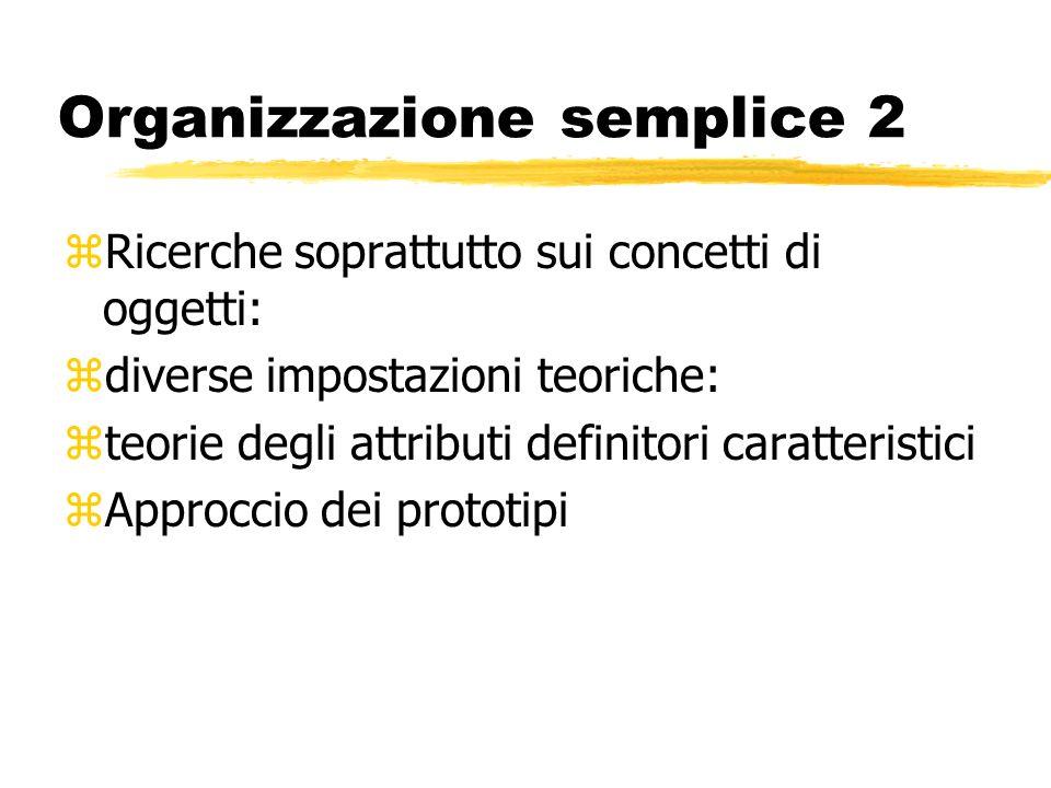 Organizzazione semplice 2