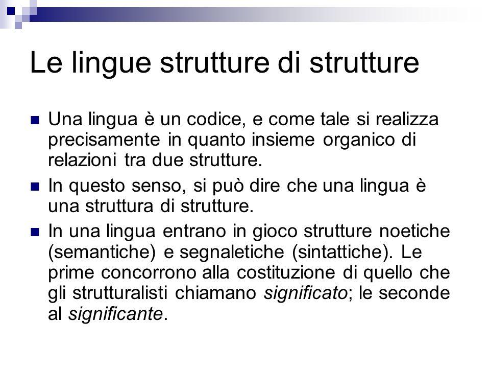 Le lingue strutture di strutture