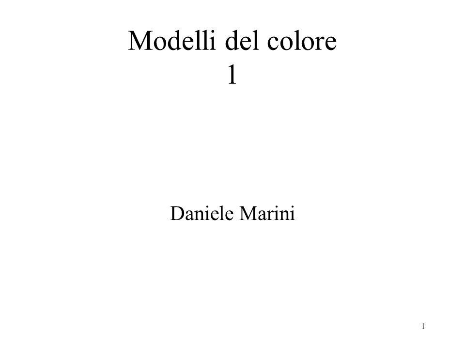 Modelli del colore 1 Daniele Marini