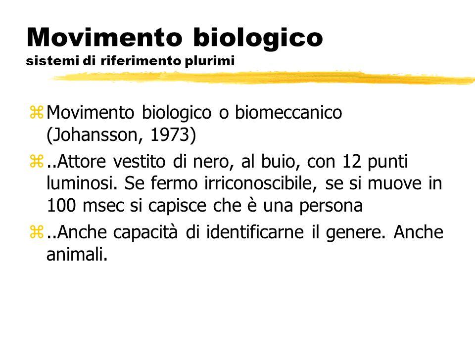 Movimento biologico sistemi di riferimento plurimi