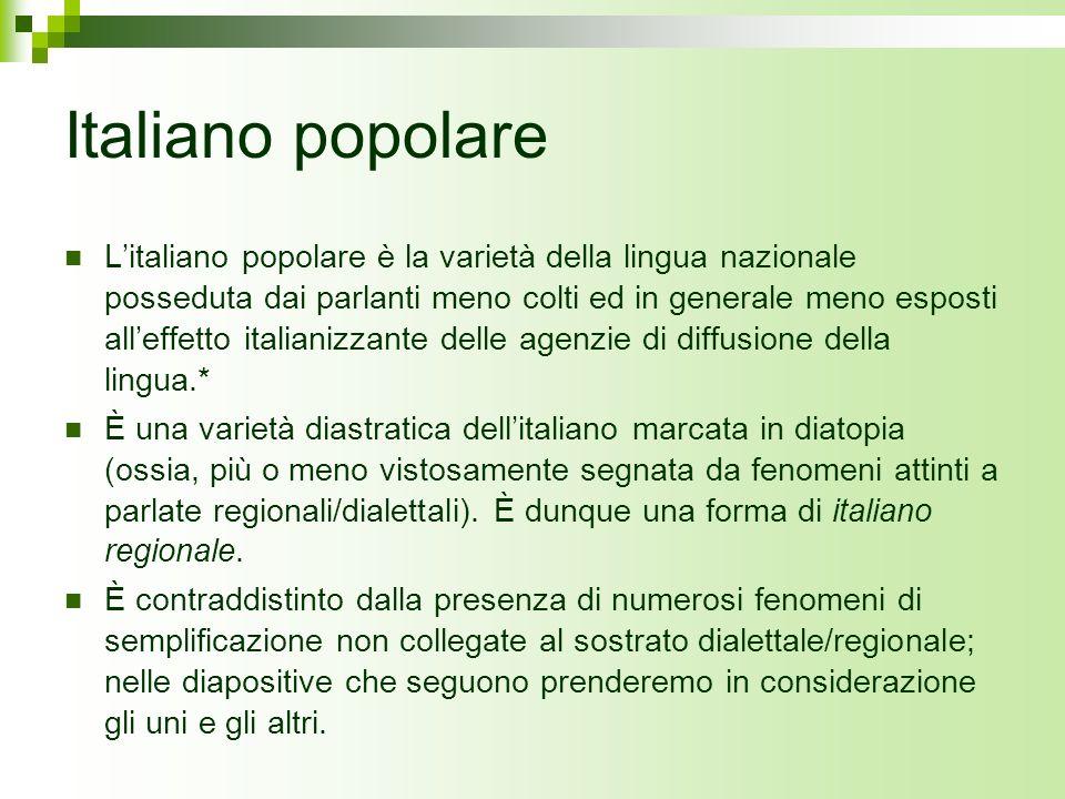 Italiano popolare