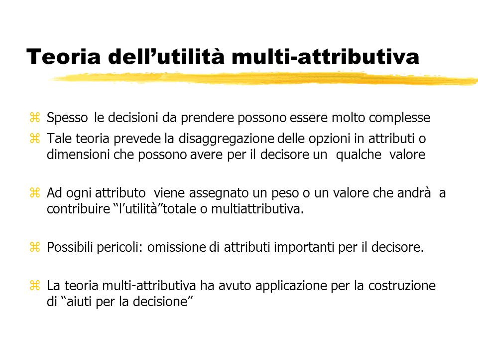 Teoria dell'utilità multi-attributiva