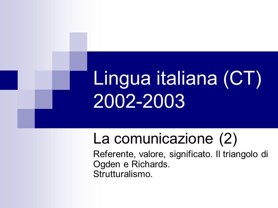 Lingua italiana (CT) 2002-2003 La comunicazione (2)