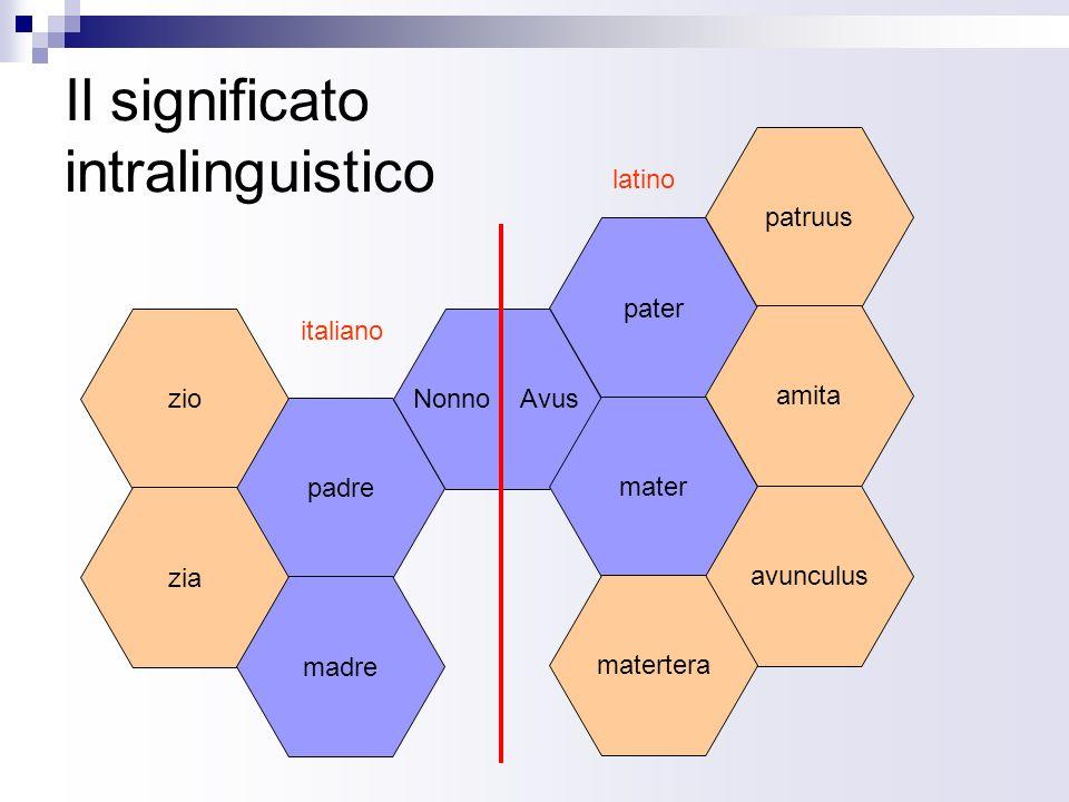 Il significato intralinguistico