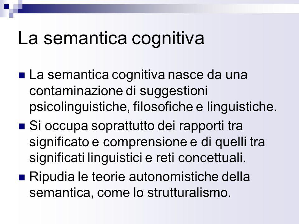 La semantica cognitiva