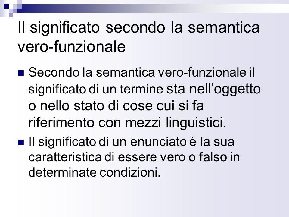 Il significato secondo la semantica vero-funzionale