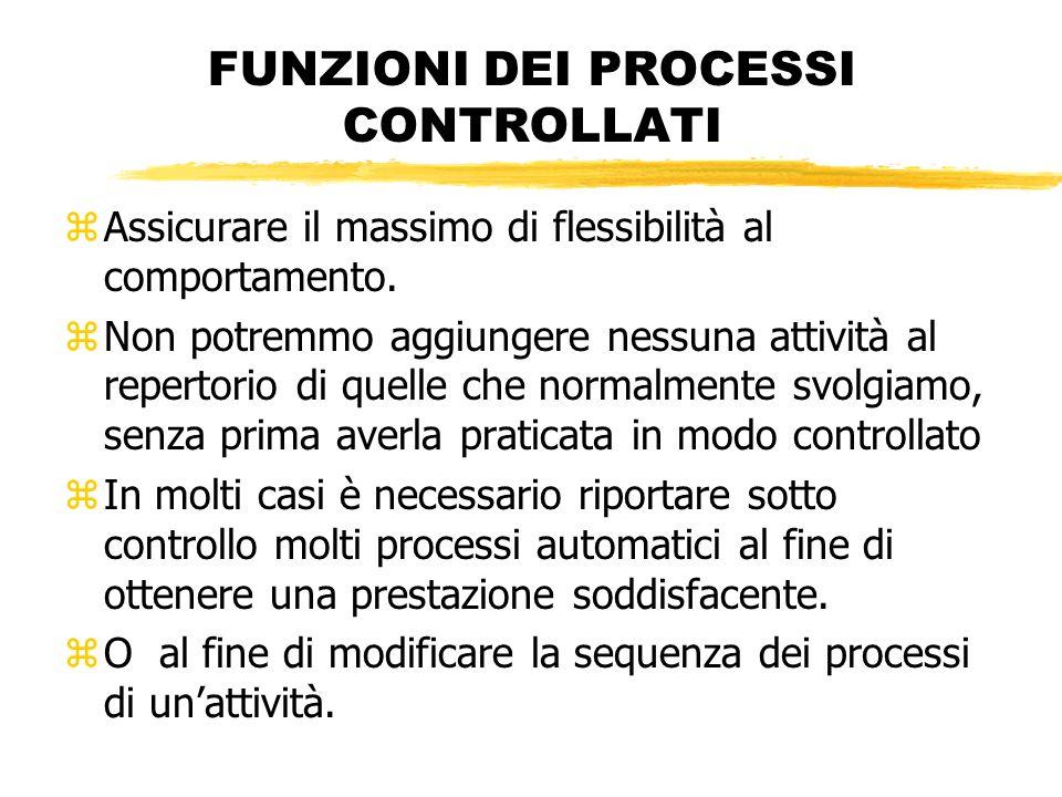 FUNZIONI DEI PROCESSI CONTROLLATI