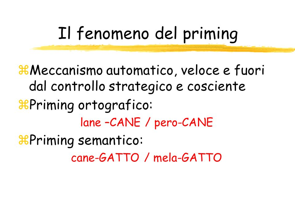 Il fenomeno del priming