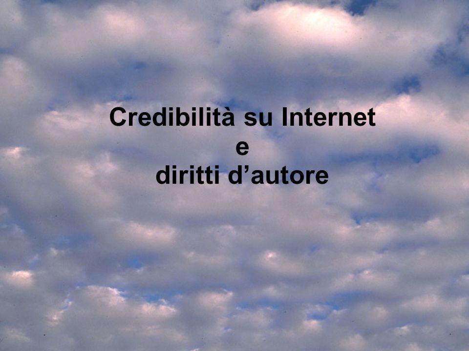 Credibilità su Internet e diritti d'autore