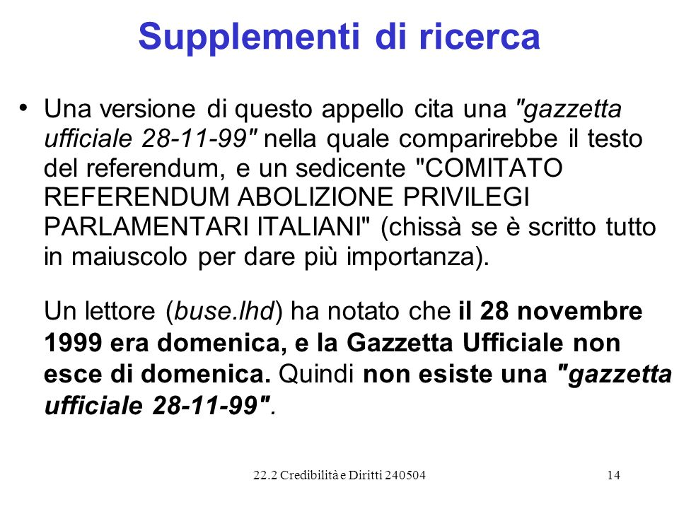 Supplementi di ricerca