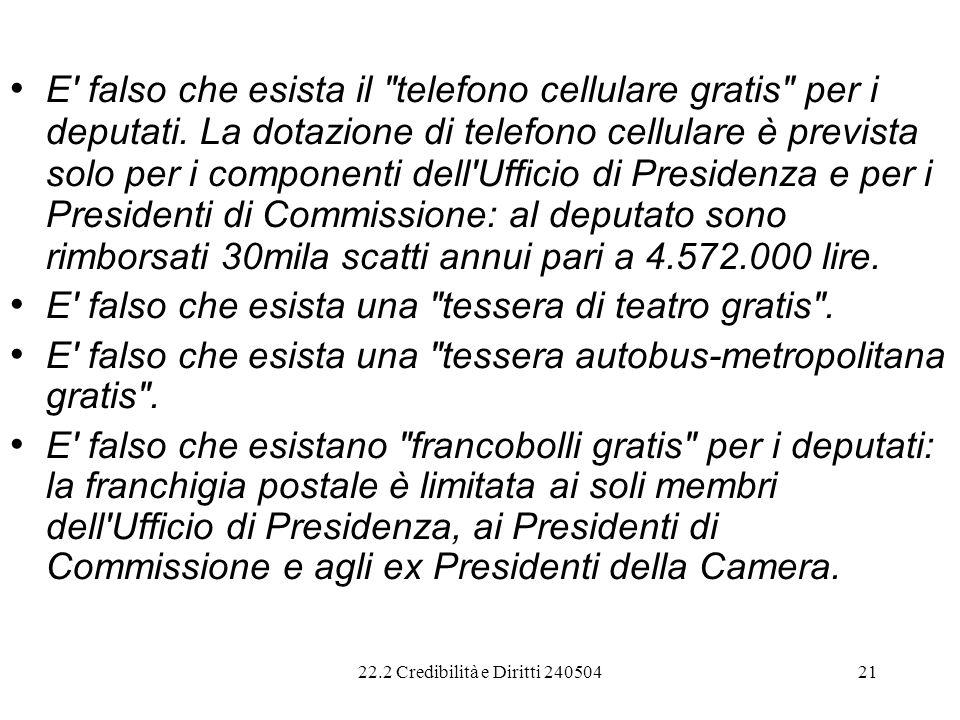E falso che esista il telefono cellulare gratis per i deputati