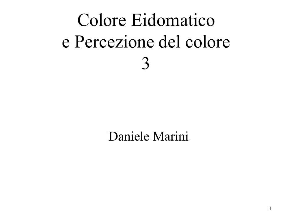 Colore Eidomatico e Percezione del colore 3