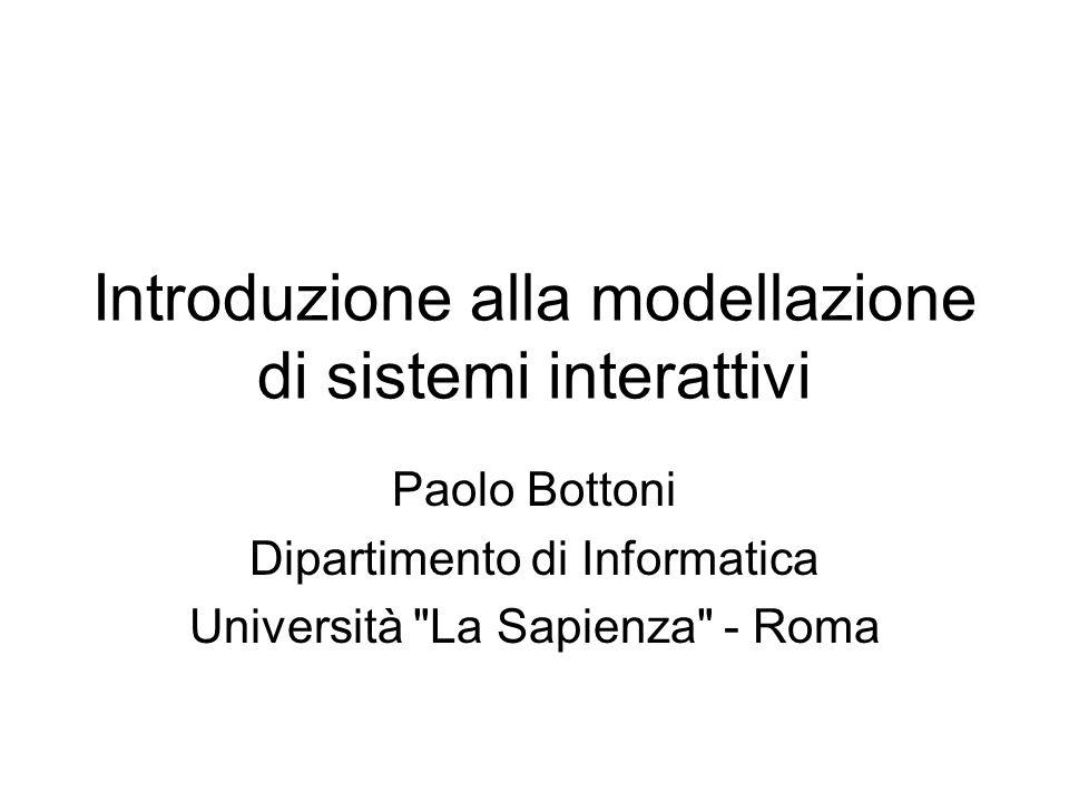 Introduzione alla modellazione di sistemi interattivi