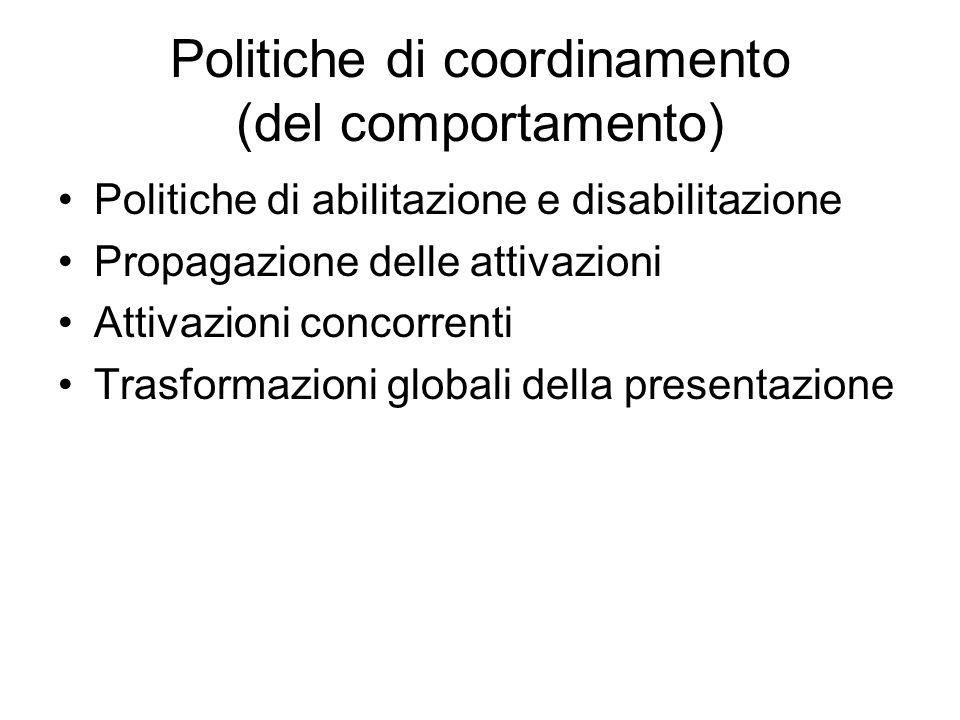 Politiche di coordinamento (del comportamento)
