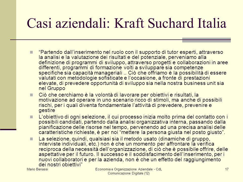Casi aziendali: Kraft Suchard Italia